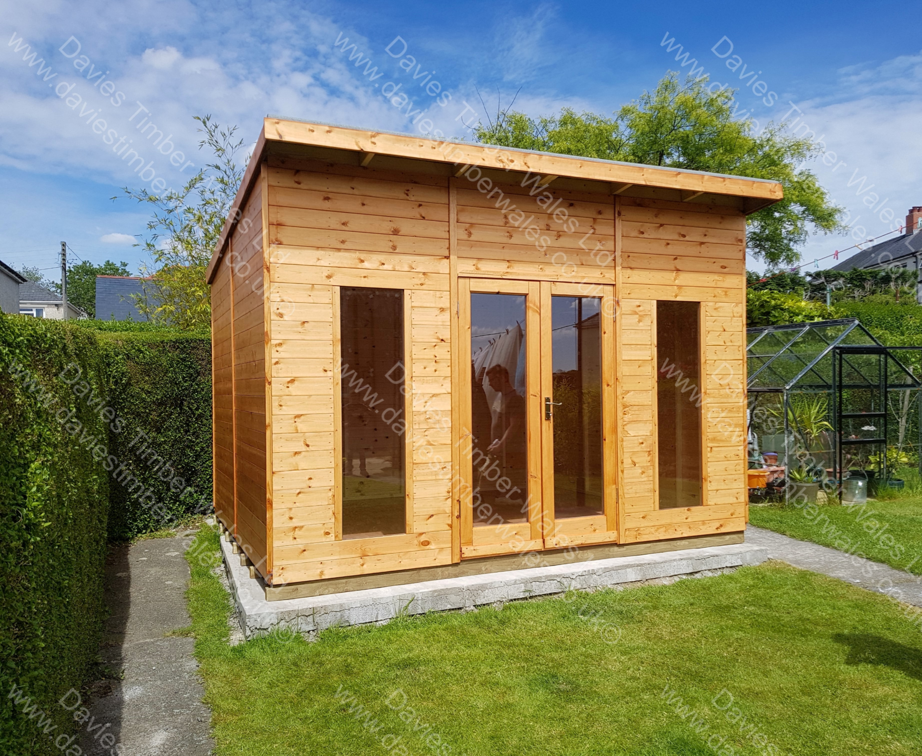 Summer House Pent Roof 12 x 10