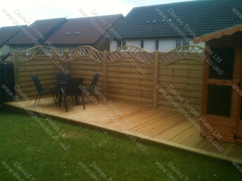 Neris Fence Panels, Decking, Summer House