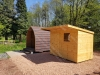 Pent Shed with Overhang