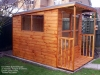 Pent Roof Summerhouse with Veranda