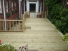 Decking area with hand rail