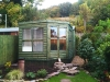 corner summerhouse & shed