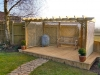 Pergola Arch & Timber Decking Area