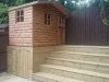 Wendy House & Decking Area