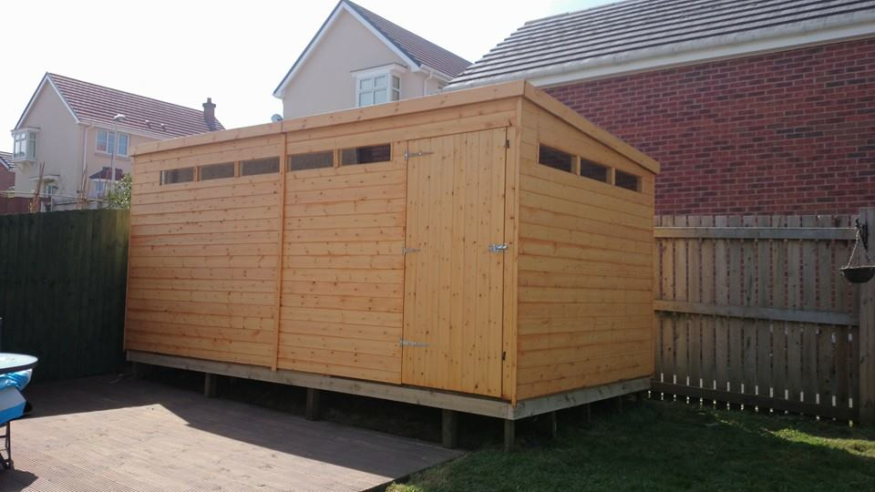 Shed with Pent roof