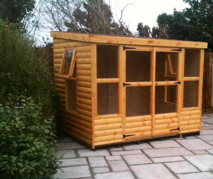 Summer House with Pent Roof