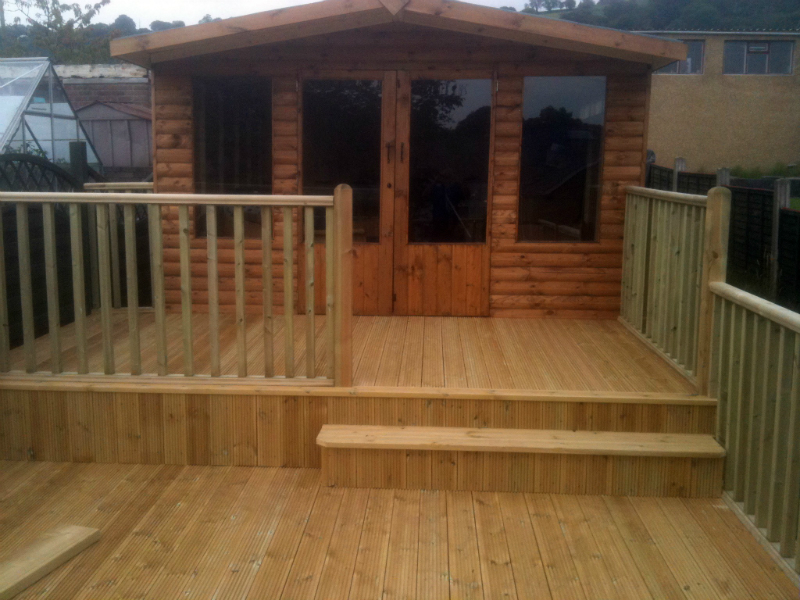 Summer House & Timber Decking